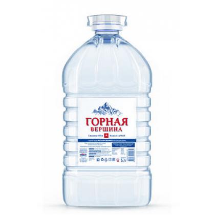 """Вода питьевая """"Горная вершина"""" 5 литров"""