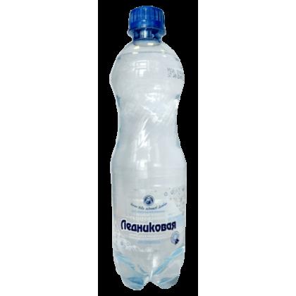 """Вода питьевая """"Ледниковая"""" 0,5 л. (12 бут. в уп.) газ. ПЭТ"""